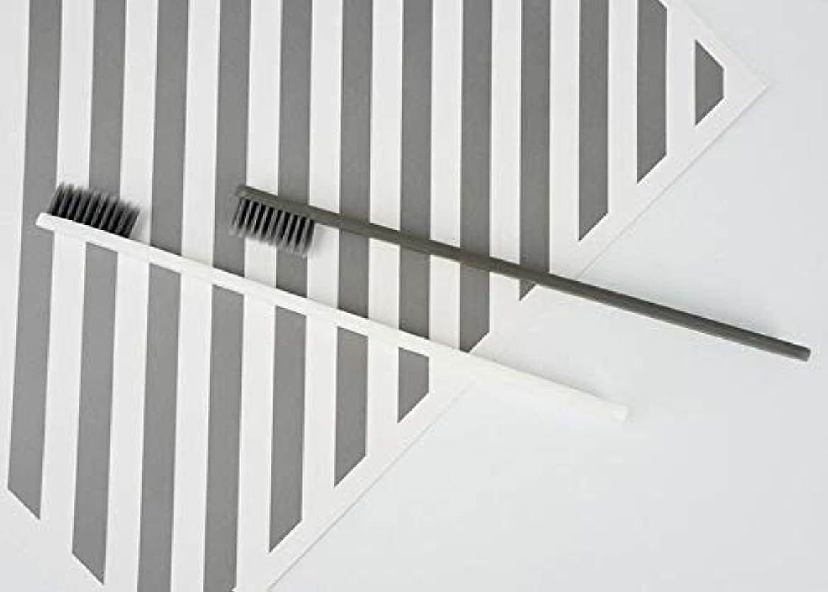 ホテル歯ブラシ - 5個のファッション 活性炭歯ブラシ 家族のための 口腔洗浄ツール(グレー)