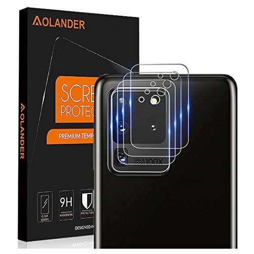 AOLANDER per Samsung Galaxy S20 Ultra Pellicola Protettiva Vetro Temperato, Lente Fotocamera Protettore 9H Durezza [Scratch Resistente] Protezione dello schermo【4 Pack】