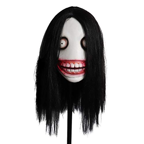 Jeff Mask, Killer Mask, Scary Latex Mask Cosplay Scary Full Face Mask Máscara de látex de Cabeza Completa de Halloween
