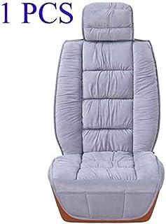 DKX Warm Car Seat Cover Universal Winter Plush Cushion Faux Fur Material For Car Seat Protector Mat Car Interior Accessori...
