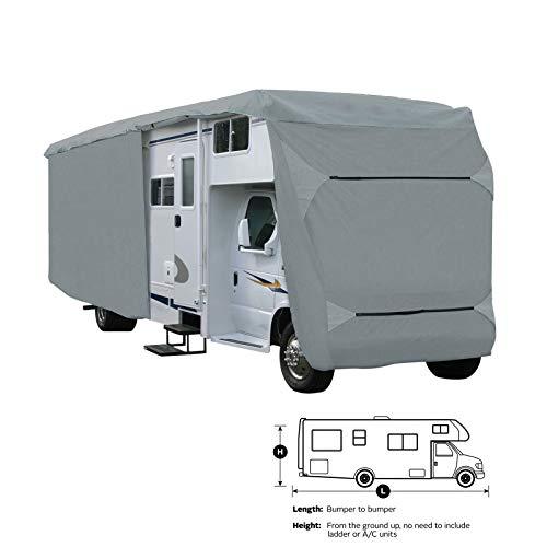 SavvyCraft Class C RV Motorhome Camper Cover Fits 35' 36'L Zipper Access