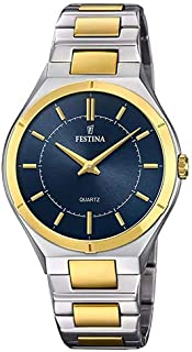 778274b95fe Relógio Festina Feminino Aço Prateado e Dourado - F20245 3