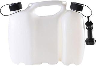 hünersdorff PROFI Doppelkanister / Kombikanister für Kraftstoff und Öl mit Kindersicherung und Auslaufrohr, 6 + 3 Liter, UN Zulassung, Made in Germany