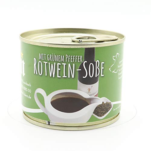 Diem Rotwein Pfeffer Soße 200g Dose / für Pfeffersteak / mit Grünem Pfeffer - Feinkost Konserve - Langes MHD
