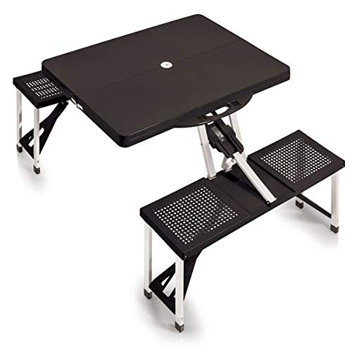 """ONIVA - a Picnic Time Brand Portable Folding Picnic Table with Seating for 4, Black, 36.2"""" x 18"""" x 5.5"""""""