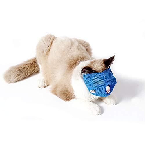 DELIFUR Bozal de Malla Transpirable para Mascotas de Devuelfur, Evita Que la máscara de Gatito muerda y mastique la masticación