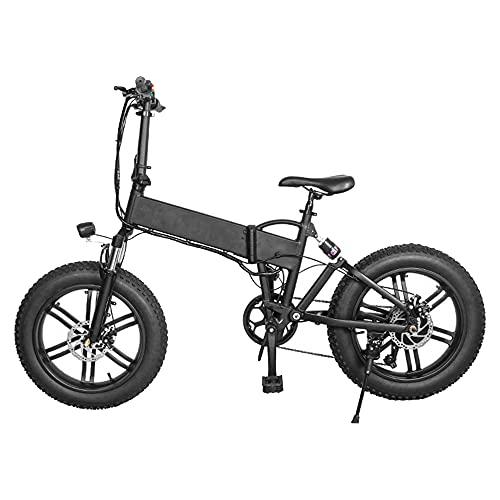 TGHY Bicicleta Eléctrica Plegable para Adultos Neumático Grueso de 20
