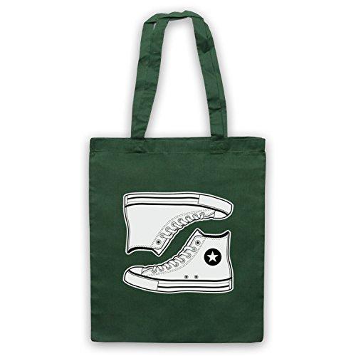 Allstars Basketball Shoes Bolso, Verde Oscuro