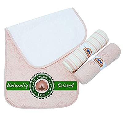 Organic Colored Cotton Waterproof Changing Pad Liners By BlueSnail