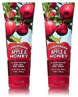 Bath and Body Works 2 Pack Champagne Apple & Honey Ultra Shea Body Cream 8 Oz.