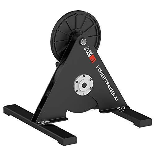 ThinkRider A1 - Transmisión Directa Rodillo de para Bicicleta para Entrenamiento en Interiores Diseño portátil silencioso, medidor de potencia incorporado, compatible con ANT + y BLE