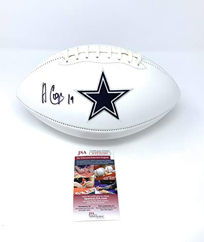 Amari Cooper Dallas Cowboys Signed Autograph Embroidered Logo Football JSA Witnessed Certified