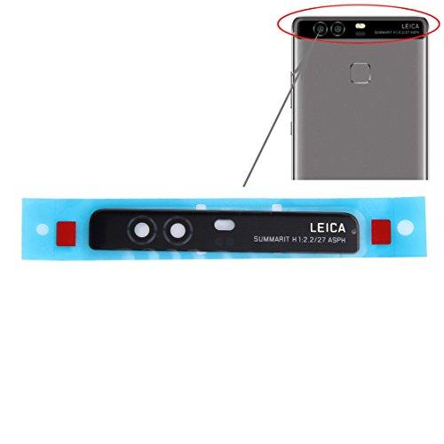 'Repuesto Cristal Concha para Carcasa Trasera vetrino Lente Objetivo cámara Camera + Adhesiva para Huawei P95.2EVA-L09Negro