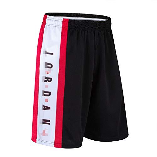 NNLX Pantaloncini da Basket da Uomo Bulls Jordan # 23 - Corsa Sportiva e Fitness Casual Pantaloncini Elastici con Tasche M-3XL-Black C-L