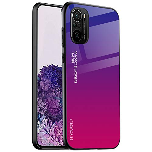 ALAMO Funda de Vidrio Degradado para el Xiaomi Poco F3 / MI 11i 5G, Carcasa de Cristal Templado y TPU Silicona - Color 4