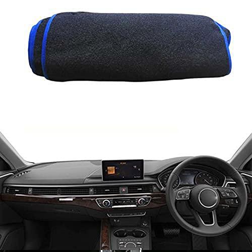 VNASKH Cubierta interior para salpicadero de coche, alfombrilla para salpicadero, capa de cojín para alfombra, para Audi A4L A4 B9 2017 2018 2019, parasol, alfombrilla para salpicadero, cojín LHD RHD