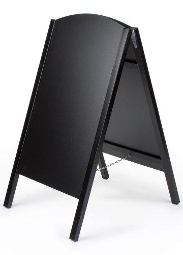 Displays2go A-Frame Sidewalk Chalkboard, Menu Sign, 21x34-Inch, Black Wood (AF2134RMBK)