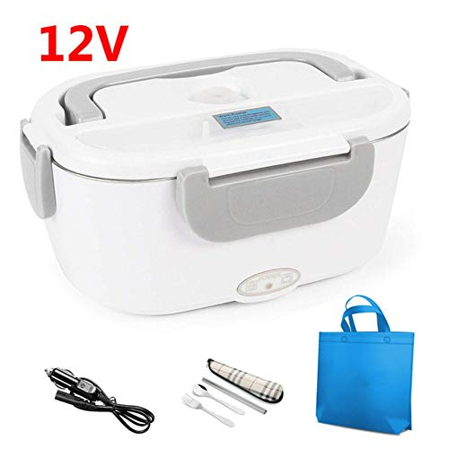 KIU Electric Lunchbox RVS Auto Home Office verwarming lunchbox kinderen Food Isolation Box Portable Set