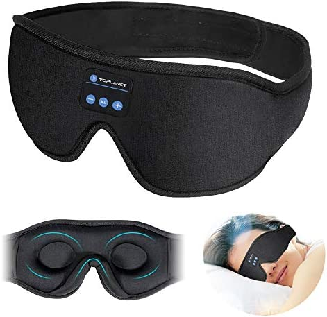 Sleep Headphones with Auto Off Timer TOPLANET Bluetooth 3D Sleep Eye Mask Wireless Bluetooth product image