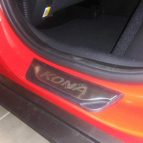 Dawn Enterprises FE-KONA18 Finished End Body Side Molding Compatible with Hyundai Kona Ultra Black MZH