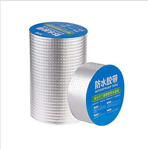 Starke Qualität wasserdichtes Klebeband, Butylkautschuk Aluminiumfolie Tape,Waterproof Duct Tape Super Repair Crack Thicken Butyl Waterproof Tape (10cm*5m)