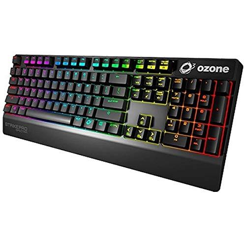 Ozone Gaming Gear Strike Pro Spectra -OZSTKPROSPECTRAUSRD- Teclado mecanico RGB, Switches Cherry MX, Layout Americano, numerico, Color Negro