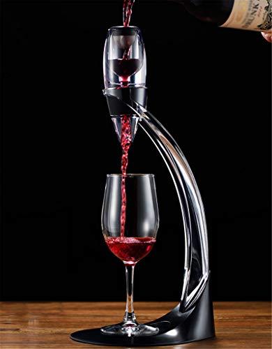 Juego De Vertedor De Aireador De Vino, Soporte De Aireador De Vino Tinto Fast Deluxe Para Oxigenar Y Decantar Vino, Con Caja De Regalo, Tolva Y Filtro