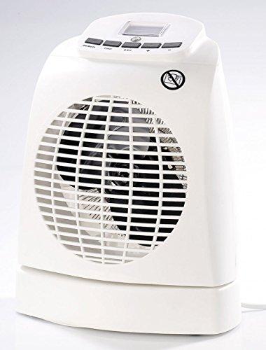 Sichler Haushaltsgeräte Heisslüfter: Heizlüfter LV-245, 2.000W, Ventilator, Oszillation, Thermostat, Fernb. (Heizlüfter mit Kühlfunktion)