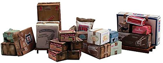 Woodland Scenics Scenic Accents Miscellaneous Packaged Freight (Boxes, Crates, Sacks Total 6 diff.) HO Scale