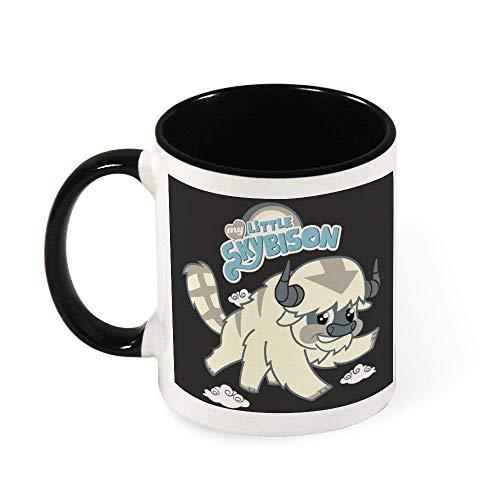 N\A My Little Sky Bison Avatar Last Airbender Pony Taza de café de cerámica Taza de té, Regalo para Mujeres, niñas, Esposa, mamá, Abuela, 11 oz