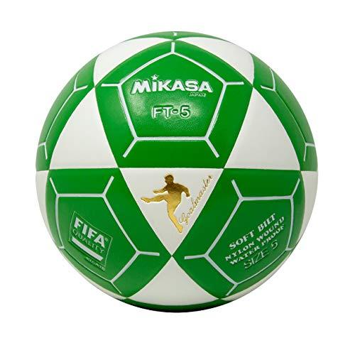 Mikasa FT5 - Pallone da calcio Goal Master, taglia 5, colore: Bianco/Verde