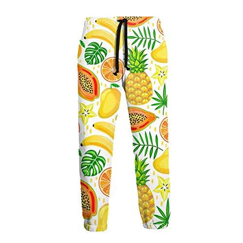 Lewiuzr Superfood Fruit Platter Pantalones Deportivos S para Hombre Pantalones Deportivos con Bolsillos