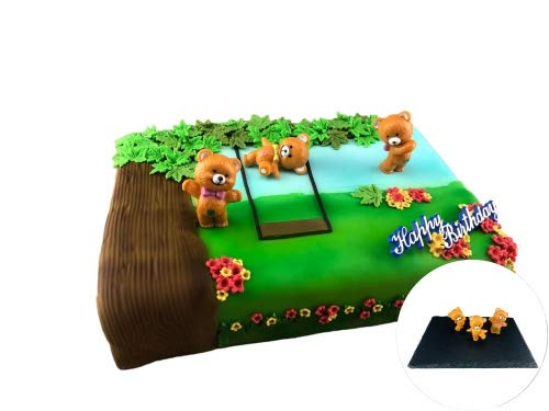 Cake Company Tortendekoration Teddy Bär | Motivtorte Teddy Bären | Tortendeko Kindergeburstag