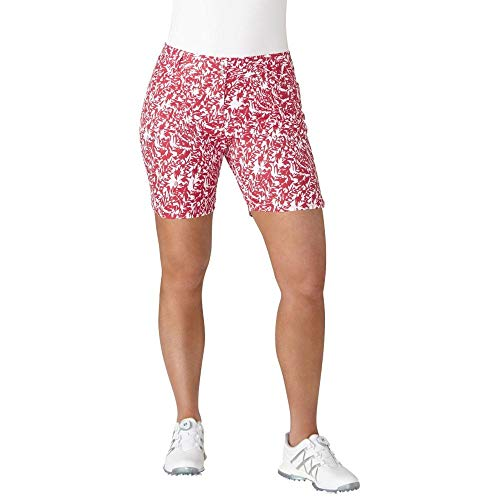 adidas Golf Women's Essential Printed 7' Shorts, Energy Pink, Size 0