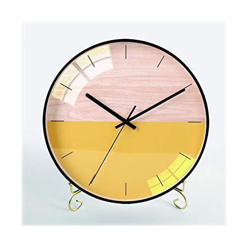 kerryshop Reloj Despertador Reloj de Mesa/Creativo, Moda, Estilo Simple/Dormitorio, Sala de Estar, la Tabla del hogar Reloj/Reloj de la Chimenea, de 13,8 Pulgadas, Negro, Metal Reloj de Escritorio