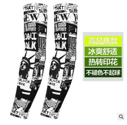 JinRui-Sport Tattoo Sleeve Tattoo Tattoo Sonnencreme Manschette, XL, Freiheitsstatue 2 Packungen