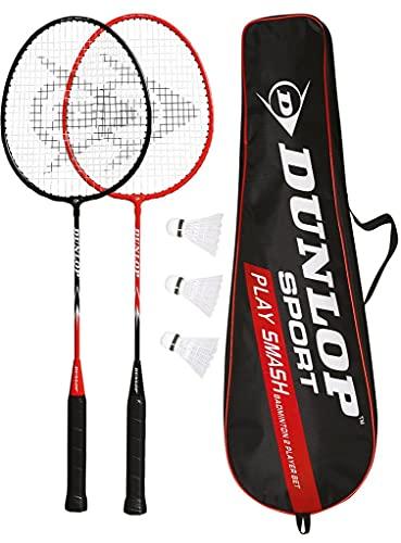 Set Of 2 x Dunlop Badminton Racket DUNLOP MATCH 2 Rackets + 3 Shuttles + Bag