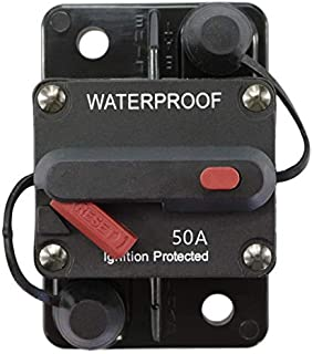 STETION 50 Amp Circuit Breaker Trolling with Manual Reset Car Marine Trolling Motors Boat ATV Manual Power Protect for Audio System Fuse 12V-48VDC Waterproof (50Amp) …