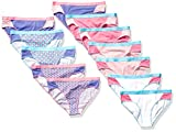 Hanes Girls' 12-Pack Sporty Stretch Hipster Panties, Assorted, 10