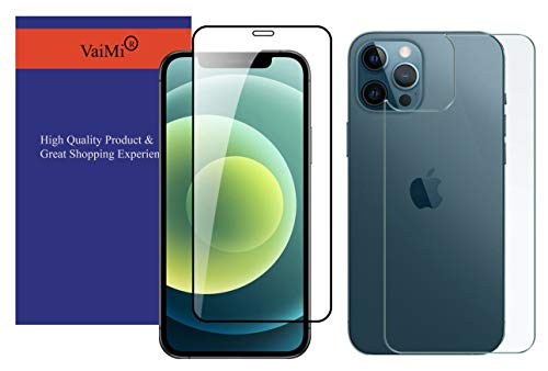 VaiMi Front Full Screen Tempered Glass with Back Tempered Glass Combo for Apple iPhone 12 Mini