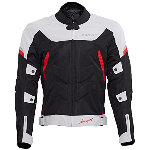 Summer Mens Motorcycle Jackets with Armor Waterproof Breathable Mesh Riding Adventure Youth Jacket