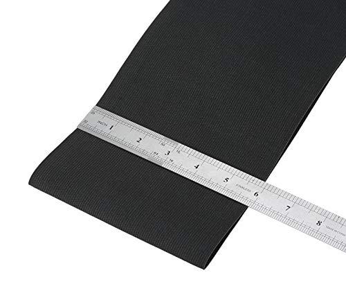 Usew Knit Heavy Stretch Elastic Band,3 feet (Black, 6')