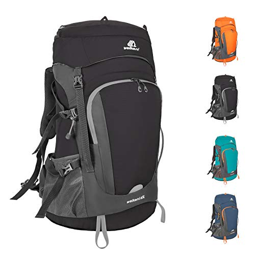 SKYSPER Zaino da Trekking 50L, Zaino Montagna Grande capacità con Cappuccio Antipioggia Impermeabile Zaino Escursionismo per Viaggio Trekking Hiking Alpinismo