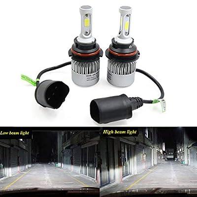 2PCS White Fog Light Headlight DRL Driving Light 6500K 8000Lm 72W COB Chip for Bulb Base H1 H3 H4 H7 H8 H9 H10 H11 H13 9004 9005 9006 9007 9012