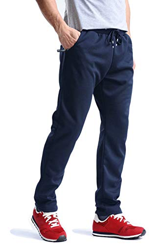 MAGCOMSEN Jogger Pants for Men Sweatpants Running Pants Workout Open Bottom Training Pants Breathable Exercising Pants Sports Pants Navy