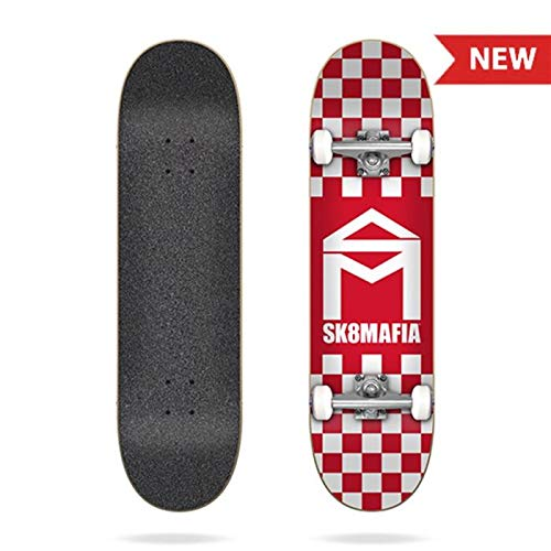 SK8 Mafia Skate Complete Logo Checker Red 7.5