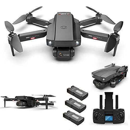YEEWA HJ188 GPS 4K Dron con cámara Dual con Motor sin escobillas, Dron 5G WiFi FPV con función Sígueme, Dron Profesional para Adultos, Vuelo de 75 Minutos con 3 baterías