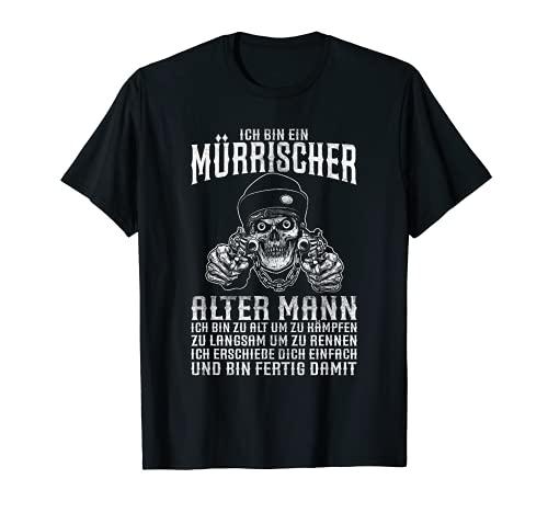 Herren Ich bin ein mürrischer Mann Pistolen Totenkopf Geschenkidee T-Shirt