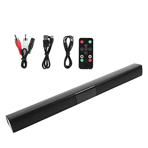 Annjom Barra de Sonido para TV, procesador de Sonido DSP Integrado con Bluetooth, Sistema de Cine en casa, 4 parlantes para computadora de teléfono