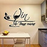 Etiqueta engomada de la pared del vinilo de la decoración del hogar de la historieta Etiqueta engomada de la pared del vinilo del arte de la cocina
